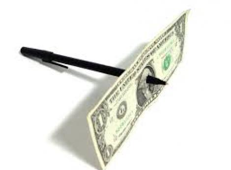 Pen Through Dollar Bill