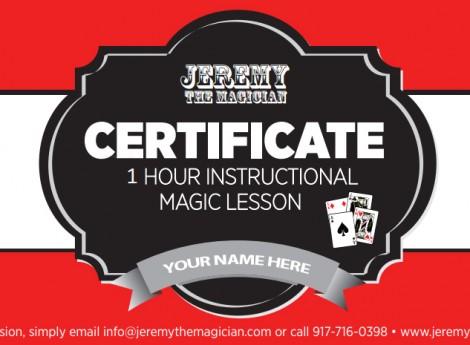 Magic Lesson Gift Certificate